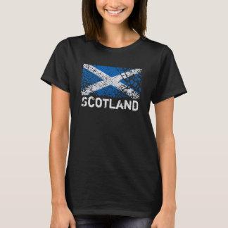 スコットランド + グランジなスコットランドの旗 Tシャツ