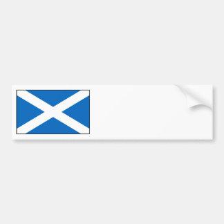 スコットランド-スコットランドの旗 バンパーステッカー