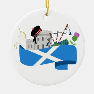 スコットランド セラミックオーナメント