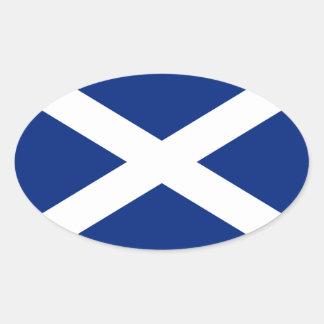 スコットランド 楕円形シール