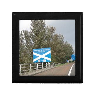 スコットランド-英国スコットランドのボーダー印へようこそ ギフトボックス