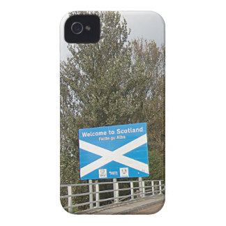 スコットランド-英国スコットランドのボーダー印へようこそ Case-Mate iPhone 4 ケース