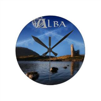 、スコットランド、Caledoniaアルバ ラウンド壁時計