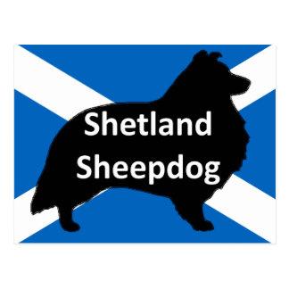 スコットランドflag.pngのシェトランド諸島のサイロ ポストカード