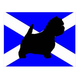 スコットランドflag.pngのwestieのサイロ ポストカード