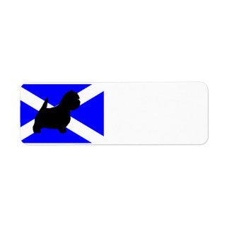 スコットランドflag.pngのwestieのサイロ ラベル