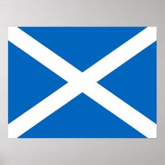 スコットランドSaltireの旗ポスター(厳密な色) ポスター