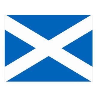 スコットランドSt Andrewの十字のサラソウジュのスコットランドの旗 ポストカード