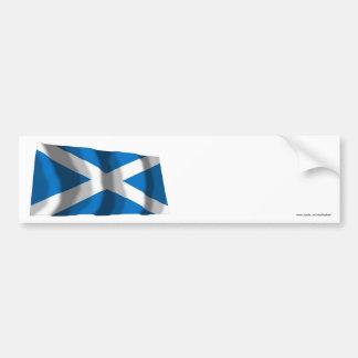 スコットランドSt Andrewの振る旗 バンパーステッカー