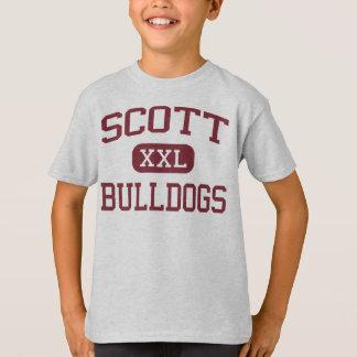スコット-ブルドッグ-スコットの高等学校-トレドオハイオ州 Tシャツ