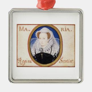 スコット(1542-87年)のメリー女王(子牛皮紙のグワッシュ) メタルオーナメント