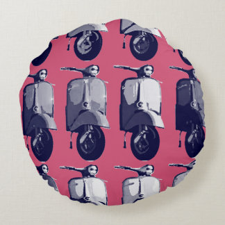 スズメバチのレトロのピンクの投球の円形の枕 ラウンドクッション