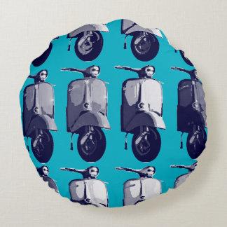 スズメバチのレトロの青い装飾用クッション ラウンドクッション
