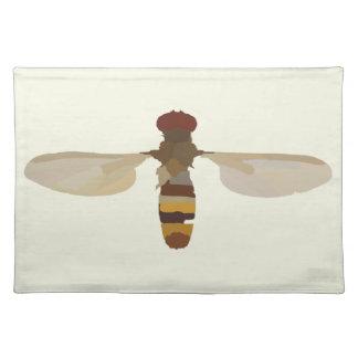 スズメバチの蜂の昆虫の自然科学の動物のかわいい黄色 ランチョンマット