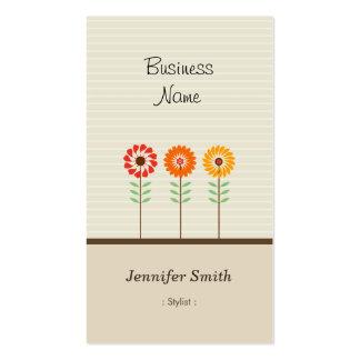 スタイリスト-かわいい花のテーマ スタンダード名刺