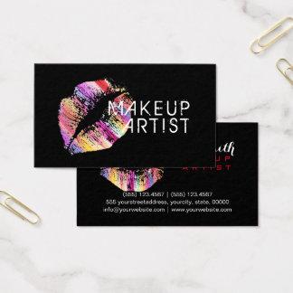 スタイリッシュでカラフルな唇のメーキャップアーティスト#8 名刺