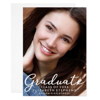 スタイリッシュでクールな卒業の写真の発表 カード