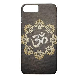 スタイリッシュでグランジな金ゴールドOmの記号のヨガ iPhone 8 Plus/7 Plusケース