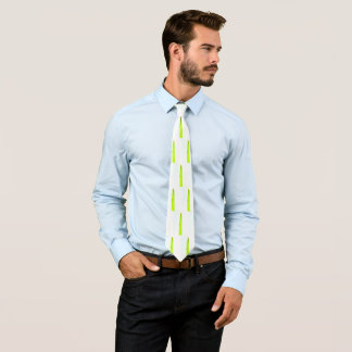 スタイリッシュでミニマルな緑のシュロの葉のタイ ネクタイ
