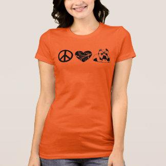 スタイリッシュで及び心地よい平和-愛-ピット・ブルのタンクトップ Tシャツ