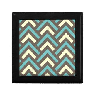 スタイリッシュで幾何学的な三角形のレトロのストライプなパターン ギフトボックス