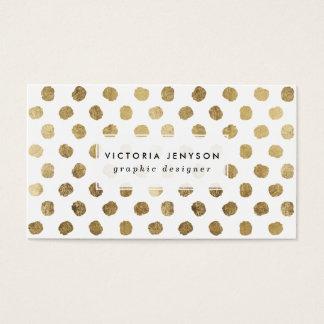 スタイリッシュで模造のな金ぱくの水玉模様ブラシストローク スタンダード名刺