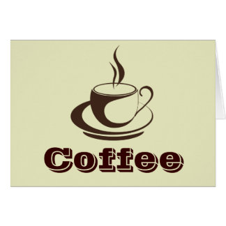 スタイリッシュで熱いコーヒーメッセージカード カード