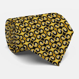 スタイリッシュで王室ので黄色および黒いパターン ネクタイ