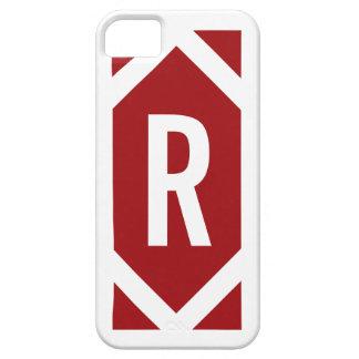 スタイリッシュで白いボーダーモノグラムの赤いiPhone 5の箱 iPhone SE/5/5s ケース