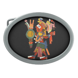 スタイリッシュで華美なマヤのインドの戦士 卵形バックル