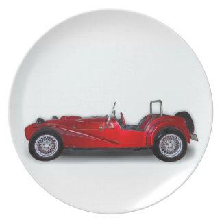 スタイリッシュで赤い車 プレート