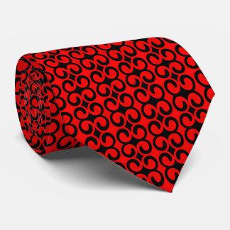 スタイリッシュで赤くおよび黒いパターン ネクタイ