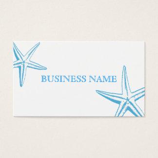 スタイリッシュで青いヒトデの美容院の名刺 名刺