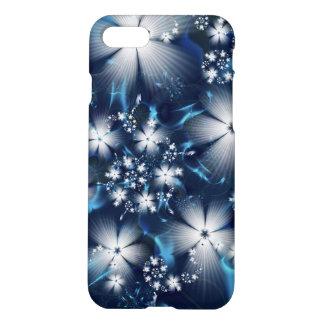スタイリッシュで青いフラクタルの花 iPhone 8/7 ケース