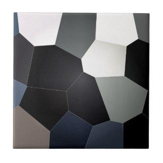 スタイリッシュで青および黒いステンドグラスパターン タイル