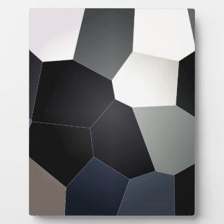スタイリッシュで青および黒いステンドグラスパターン フォトプラーク