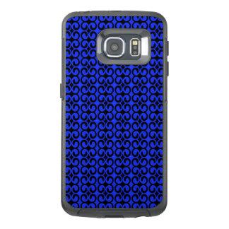 スタイリッシュで青および黒いパターン オッターボックスSamsung GALAXY S6 EDGEケース