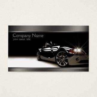 スタイリッシュで黒く車のな名刺 名刺