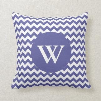 スタイリッシュなアイリス青いモノグラムの装飾者の枕 クッション