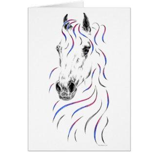 スタイリッシュなアラビアの馬 カード