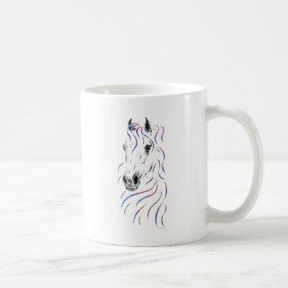 スタイリッシュなアラビアの馬 コーヒーマグカップ