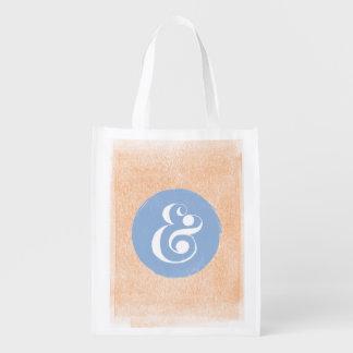 スタイリッシュなアンパーサンドタイプフェイス青いPeriのショッピングのトート 買い物袋