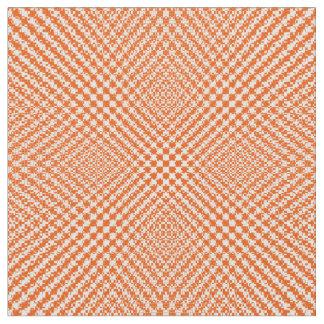 スタイリッシュなオレンジ織り目加工のヘリンボンパターン(の模様が)ある ファブリック