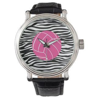スタイリッシュなシマウマのプリントのバレーボールの腕時計 腕時計