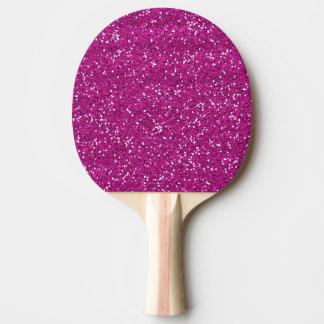スタイリッシュなショッキングピンクのグリッター 卓球ラケット
