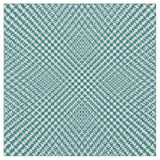 スタイリッシュなティール(緑がかった色)の織り目加工のヘリンボンパターン(の模様が)ある ファブリック