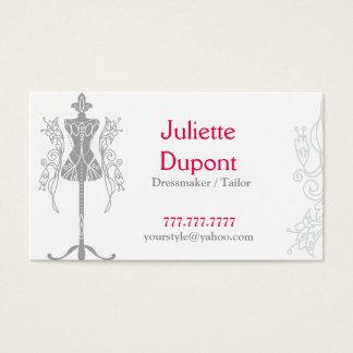 スタイリッシュなテーラードレスメーカーの結婚式のサロン 名刺