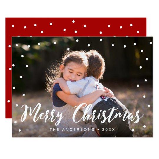 スタイリッシュなブラシの原稿のメリークリスマスの休日の写真 カード