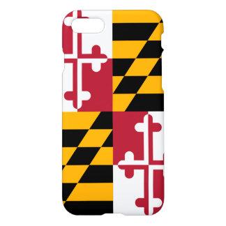 スタイリッシュなメリーランドの州の旗の装飾 iPhone 8/7 ケース