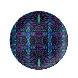 スタイリッシュなモトッコ人の抽象芸術の磁器皿 磁器プレート
